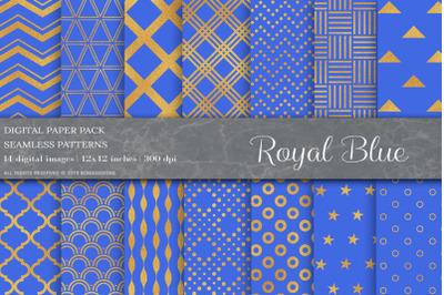 Gold Geometric Seamless Patterns