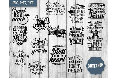 Southern Girl SVG, Southern quote bundle, Southern cut files