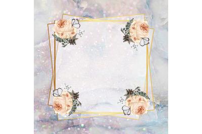 Rose Marble FrameDigital Paper