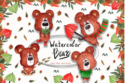 Watercolor Bears Collection