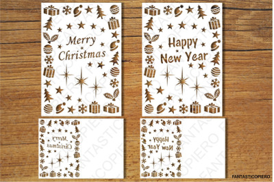 Merry Christmas, Happy New Year SVG files.