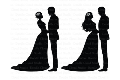 Wedding SVG, Bride and Groom SVG
