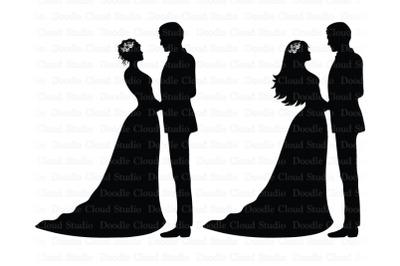 Wedding SVG, Bride and Groom SVG