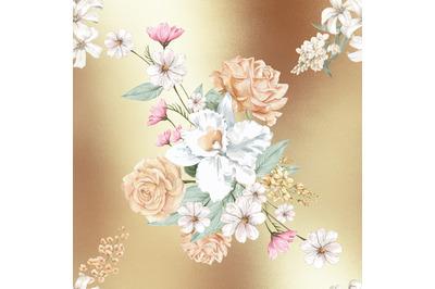Rose Gold Foil Digital Paper