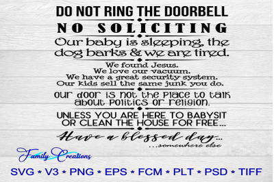Do Not Ring The Doorbell