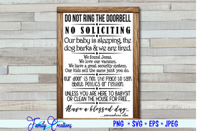 Do Not Ring The Doorbell