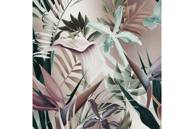 Tropical Flowers Digital Paper