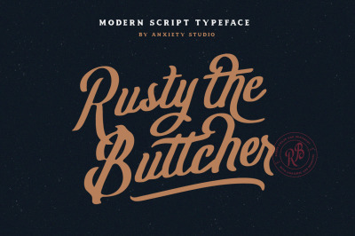 Rusty The Buttcher Modern Script