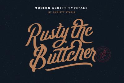 Rusty The Buttcher Modern Script