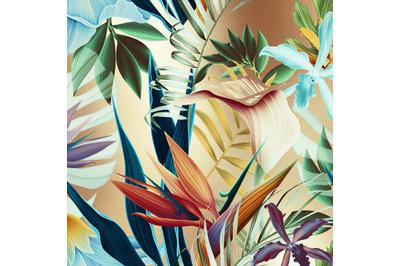 Gold Tropical Digital Paper