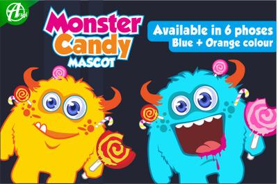 Monster Candy Mascot