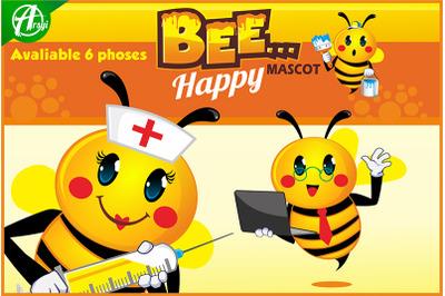 Bee Happy Mascot