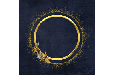 Gold Frame Digital Paper