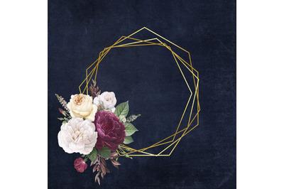 Rose Gold Frame Digital Paper