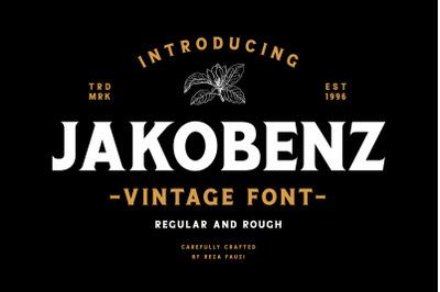 Jakobenz - Vintage Serif Font