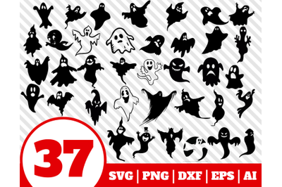 37 GHOST SVG BUNDLE - ghost clipart - ghost vector - ghost cricut