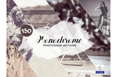 130 Monochrome Photoshop Actions