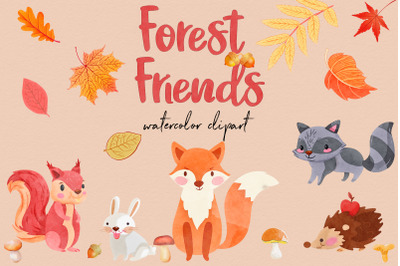 Watercolor Forest Clipart