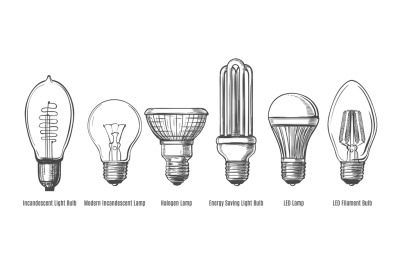 Black lightbulbs sketch