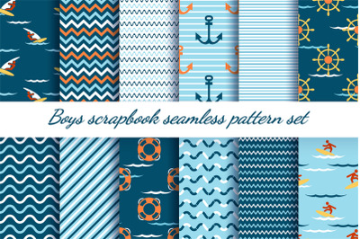 Boys scrapbook patterns