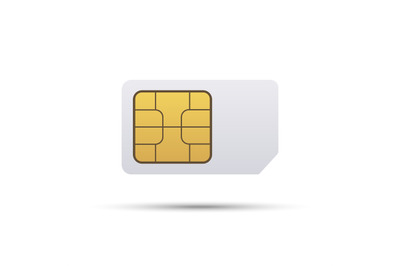 Simcard icon on white