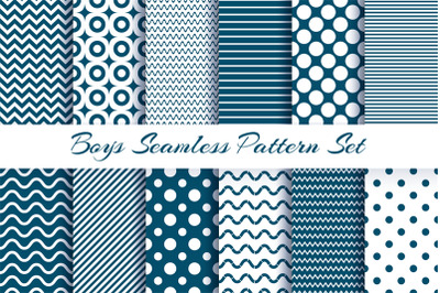 Scrapbook boy pattern set