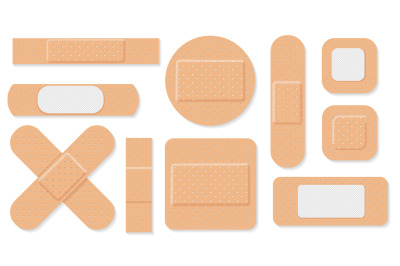 Medical plasters set