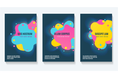 Futuristic shapes booklet design