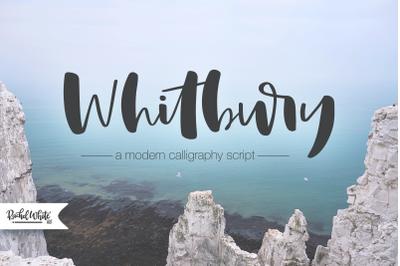 Whitbury, a modern calligraphy script font