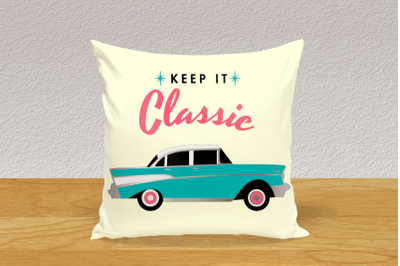 1950s Classic Car | SVG | PNG | DXF