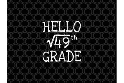 Hello 49th grade