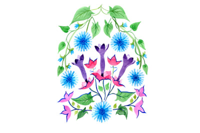 Exotic ornament watercolor png