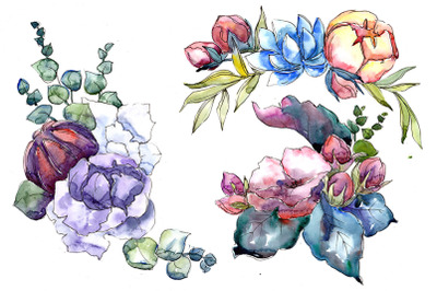 Jenny flowers bouquet watercolor png