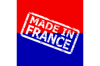 Made in france, white rubber post stamp