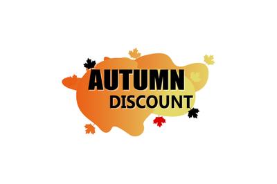 Autumn discount promotional season, advertising shop