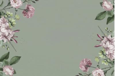 Flowers Wood Digital Paper
