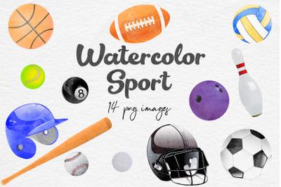 Watercolor Sport Clipart