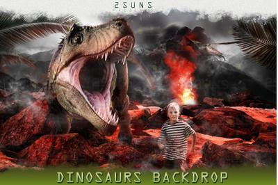 Dino Dinosaurs backdrop Jurassic world