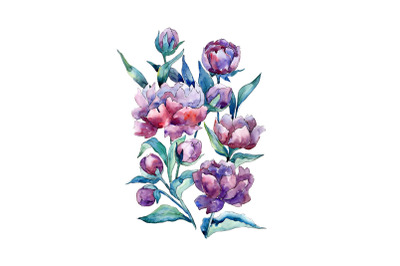 Bouquet of flowers Mondial watercolor png