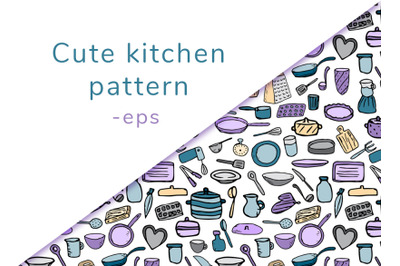Kitchen seamless pattern p. 1