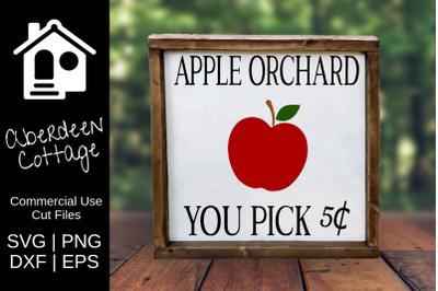 Apple Orchard Sign SVG
