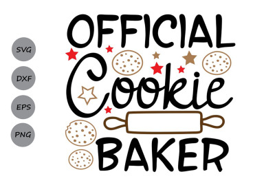 Official Cookie Baker Svg, Christmas Svg, Christmas Cookies Svg.