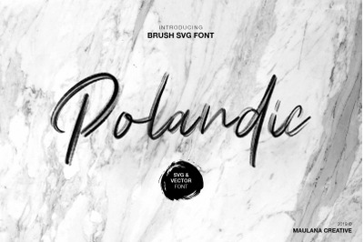 Polandic SVG Brush Font