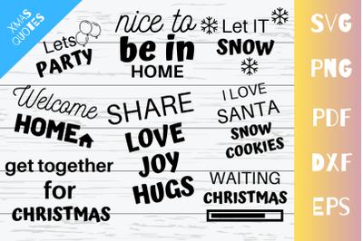 Latest Christmas Quote SVG Cut Files Bundle