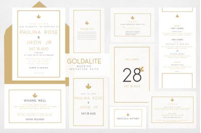 GOLDALITE PREMIUM Wedding Invitation