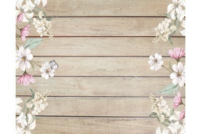Wood Flowers Texture