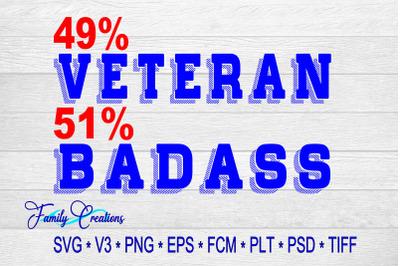 49% Veteran 51% Badass
