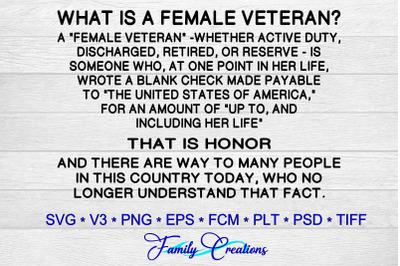 What Is A Female Veteran?