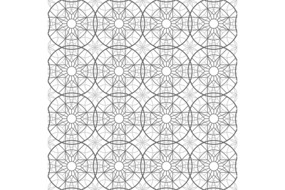 Abstract esoteric geometric pentagrams seamless pattern