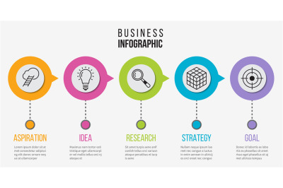 Step infographic. Process business diagram for presentation. Vector ti